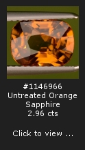 1146966 Untreated Orange Sapphire Bang Kacha Thailand