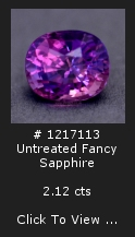 Untreated Purple-Pink Sapphire